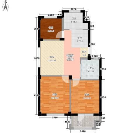 澳海澜庭3室0厅1卫1厨95.00㎡户型图
