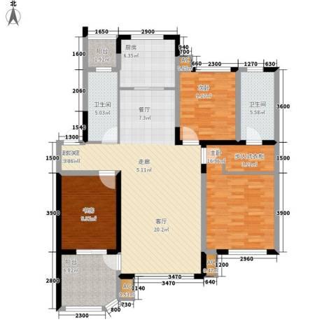 中海水岸馨都3室0厅2卫1厨126.00㎡户型图