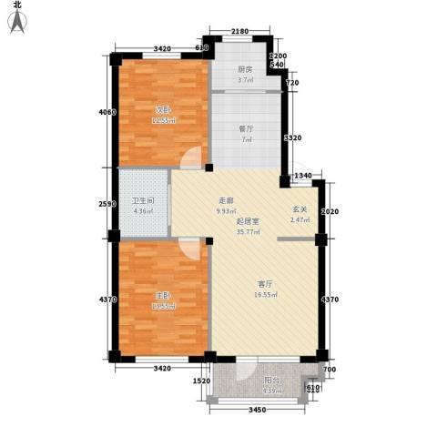 澳海澜庭2室0厅1卫1厨104.00㎡户型图