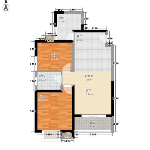 明德怡心居2室0厅1卫1厨74.97㎡户型图