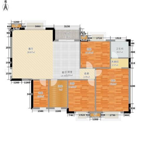 香海西岸5室0厅1卫0厨122.00㎡户型图