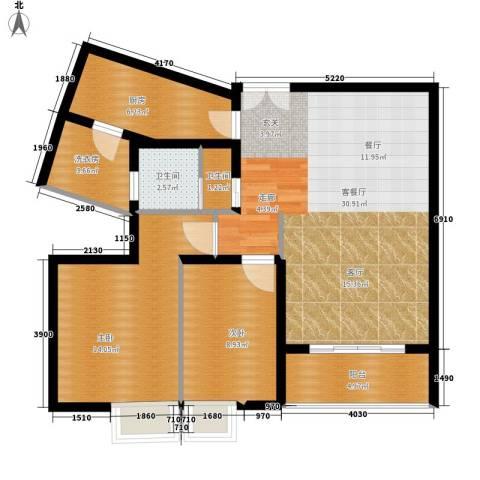 云河湾2室1厅2卫1厨95.00㎡户型图