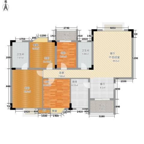 香海西岸4室0厅2卫1厨141.00㎡户型图