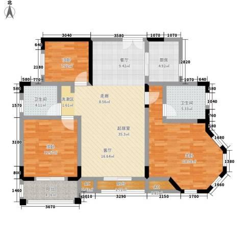 香海西岸3室0厅2卫1厨112.00㎡户型图