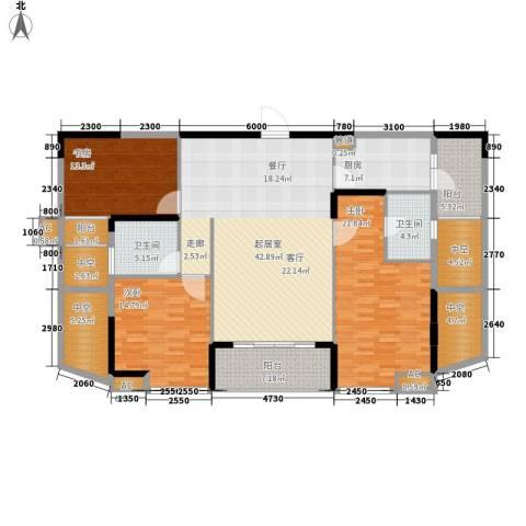 美林・银谷3室0厅2卫1厨161.00㎡户型图