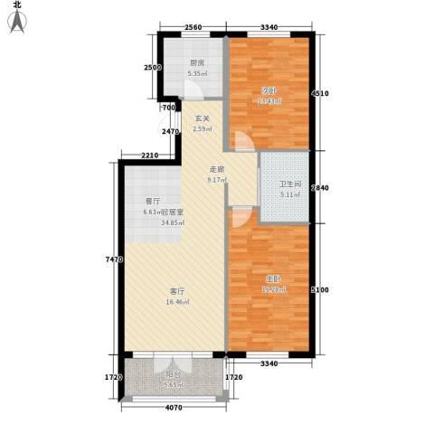 澳海澜庭2室0厅1卫1厨112.00㎡户型图