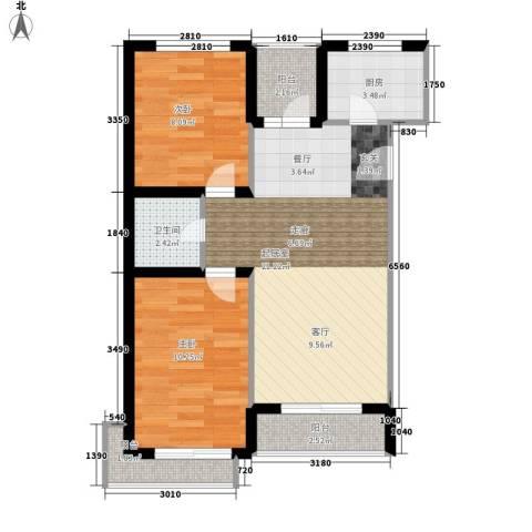 长坡社区2室0厅1卫1厨60.00㎡户型图