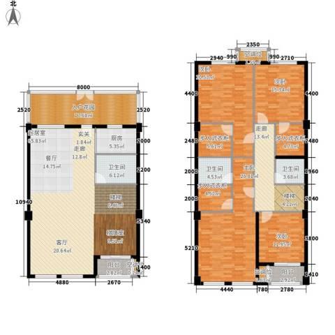 金色港湾4室0厅3卫1厨248.00㎡户型图