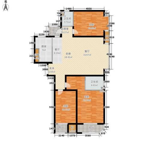 蓝星万象城3室0厅2卫1厨175.00㎡户型图