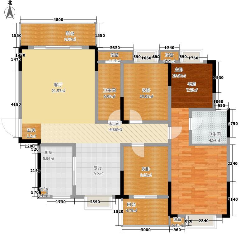凯富漫城141.89㎡E7面积14189m户型