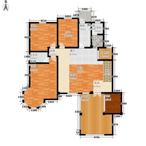 洪城比华利4室0厅2卫1厨209.00㎡户型图
