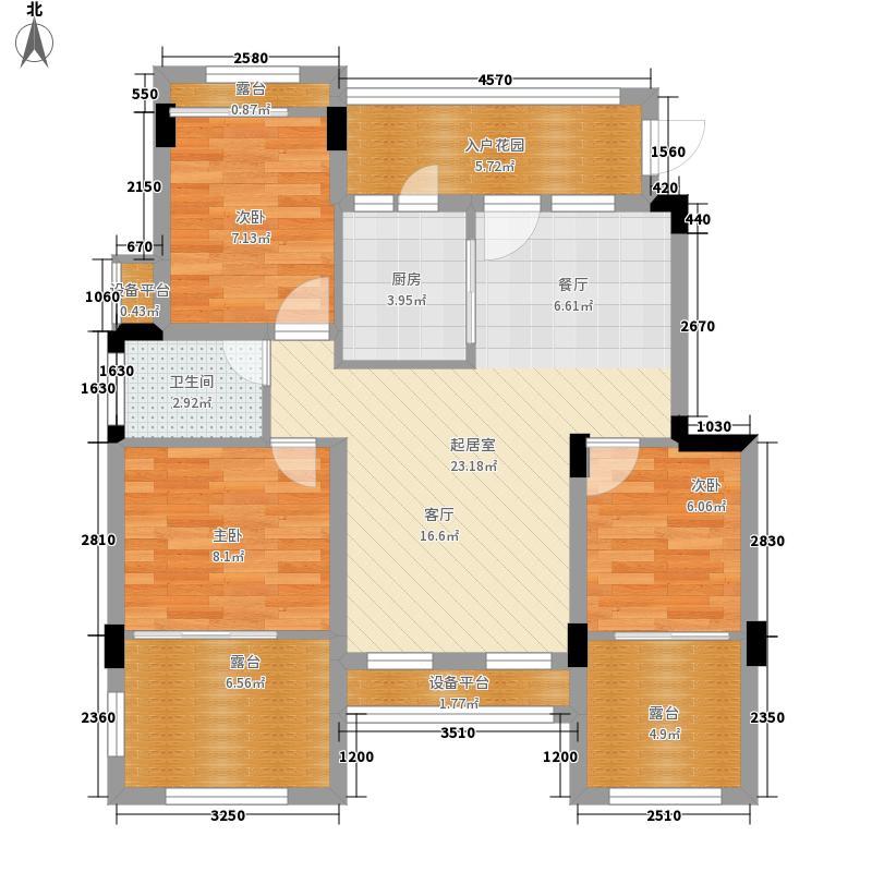 旭辉朗香郡81.04㎡一期2号楼B6-面积8104m户型
