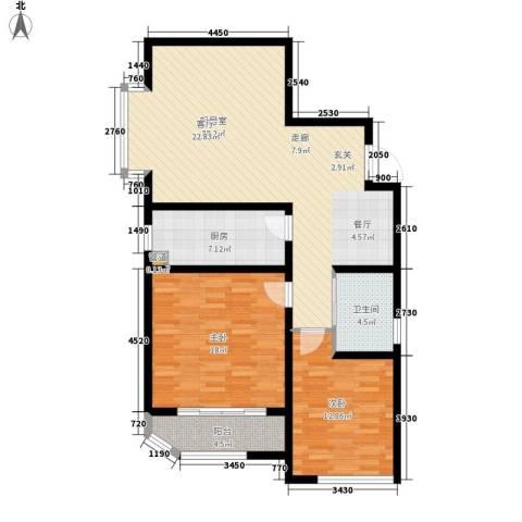 蓝星万象城2室0厅1卫1厨97.00㎡户型图