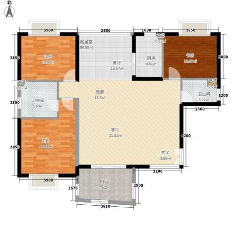 华融琴海湾3室0厅2卫1厨150.00㎡户型图