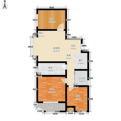 蓝星万象城3室0厅1卫1厨110.00㎡户型图