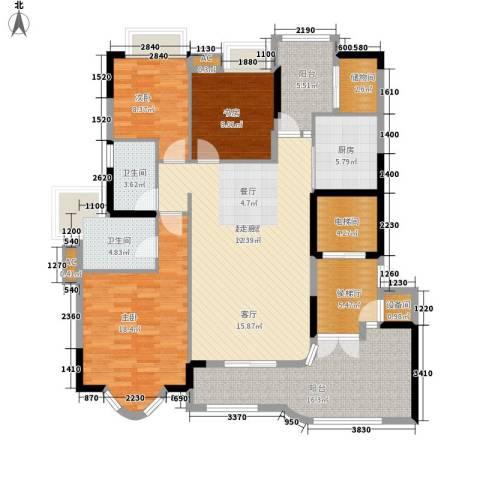 珠江御景湾3室0厅2卫1厨137.00㎡户型图