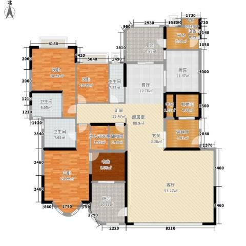 珠江御景湾4室0厅3卫1厨255.00㎡户型图