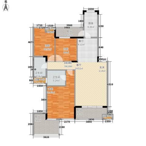 融科蔚城3室0厅2卫1厨118.00㎡户型图