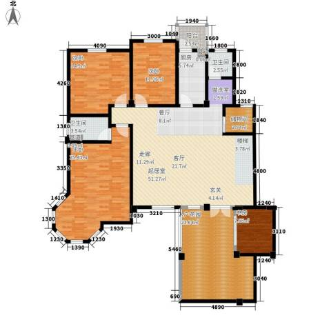 洪城比华利4室0厅2卫1厨210.00㎡户型图