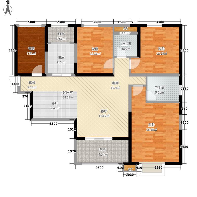 御锦城144.19㎡Cc4户型3室2厅