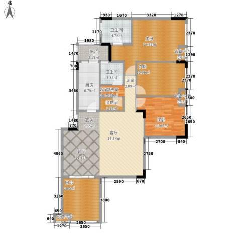融科蔚城3室0厅2卫1厨117.00㎡户型图