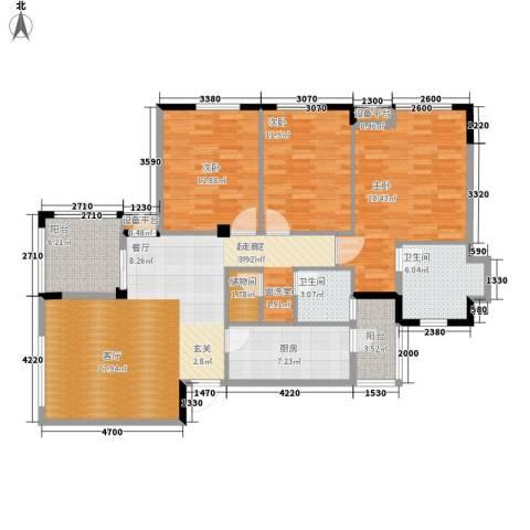 融科蔚城3室0厅2卫1厨112.00㎡户型图