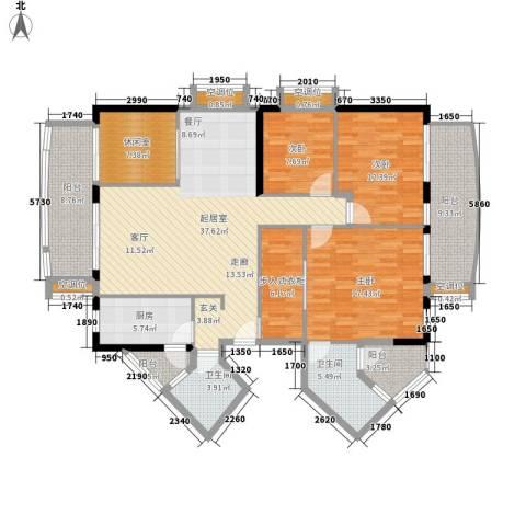 富力桃园3室0厅2卫1厨148.00㎡户型图