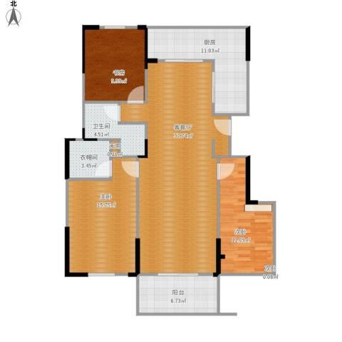 华府国际4室1厅1卫1厨137.00㎡户型图