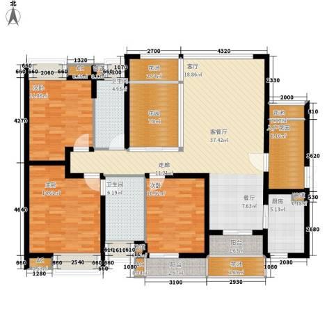 中海胥江府3室1厅2卫1厨140.00㎡户型图
