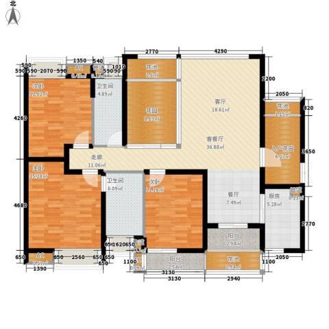 中海胥江府3室1厅2卫1厨139.00㎡户型图
