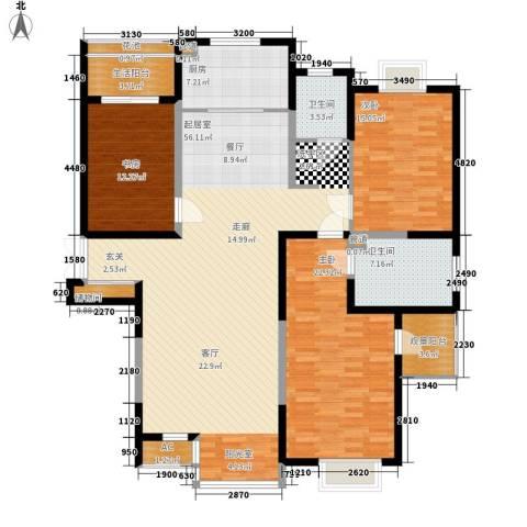 春江花月3室0厅2卫1厨153.00㎡户型图