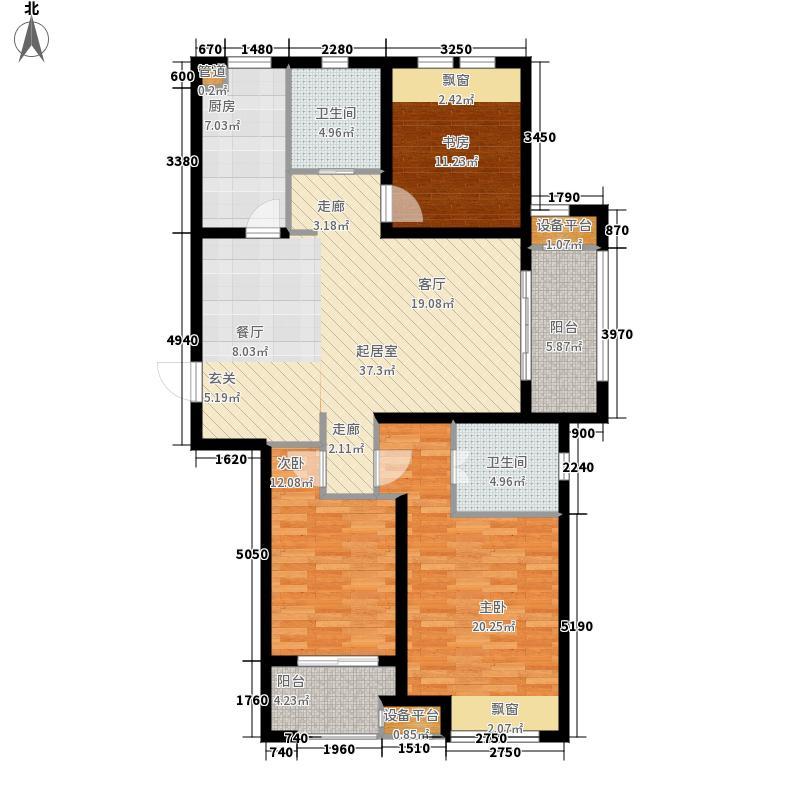 新城金郡125.00㎡二期高层59#楼F面积12500m户型