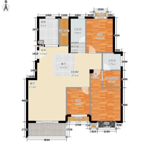 金色港湾3室0厅2卫1厨125.00㎡户型图