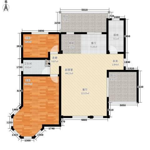 洪城比华利2室0厅1卫1厨141.00㎡户型图