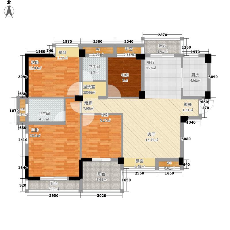 百步亭现代城二区126.00㎡B面积12600m户型