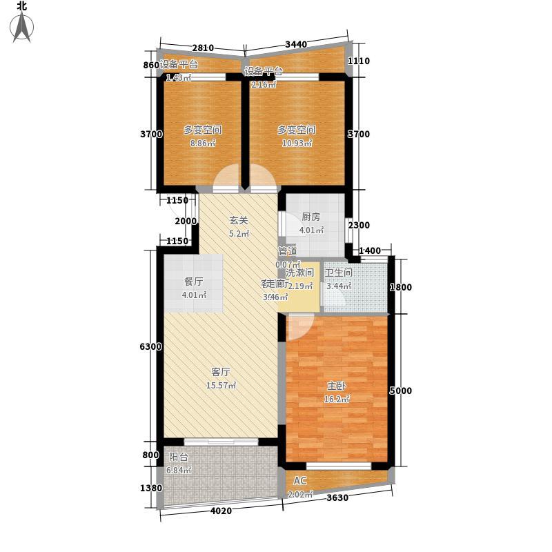阳光100国际新城85.00㎡户型2室2厅