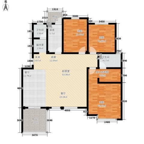 洪城比华利3室0厅2卫1厨170.00㎡户型图