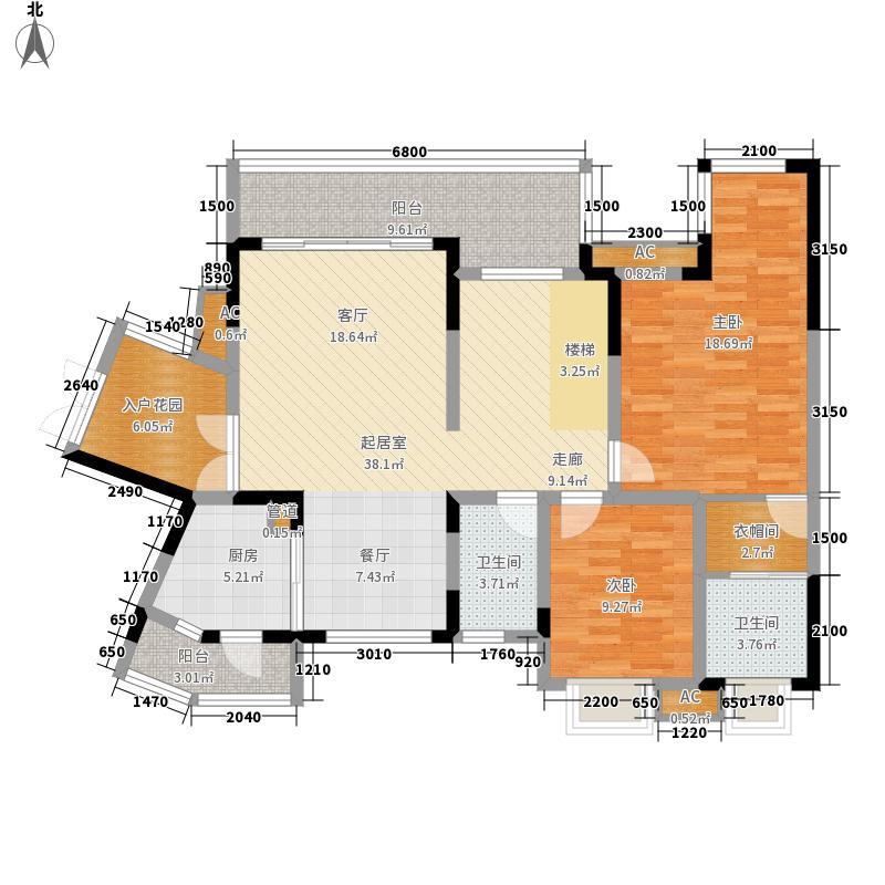 红树林181.99㎡3期5号楼I跃下(已面积18199m户型