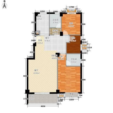 金色港湾3室0厅2卫1厨118.00㎡户型图