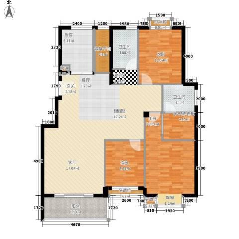 金色港湾3室0厅2卫1厨161.00㎡户型图