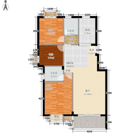 金色港湾3室0厅2卫1厨132.00㎡户型图