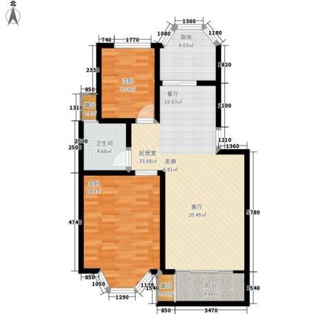 港岛花园2室0厅1卫1厨89.00㎡户型图