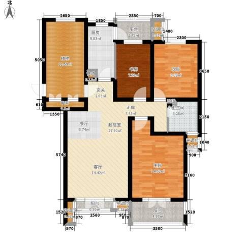 宝翠花都瞰景园3室0厅1卫1厨133.00㎡户型图