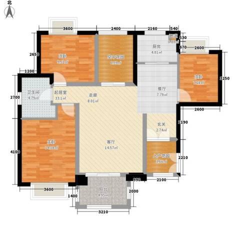 华融琴海湾3室0厅1卫1厨115.00㎡户型图