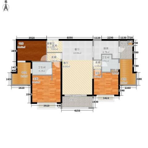 朱美拉公寓3室1厅2卫1厨148.00㎡户型图