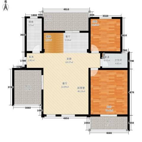 洪城比华利2室0厅1卫1厨150.00㎡户型图