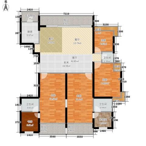 金地荔湖城5室1厅3卫1厨180.00㎡户型图