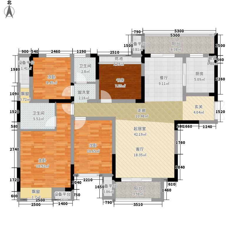 五矿紫湖香醍138.00㎡G1户型3室2厅