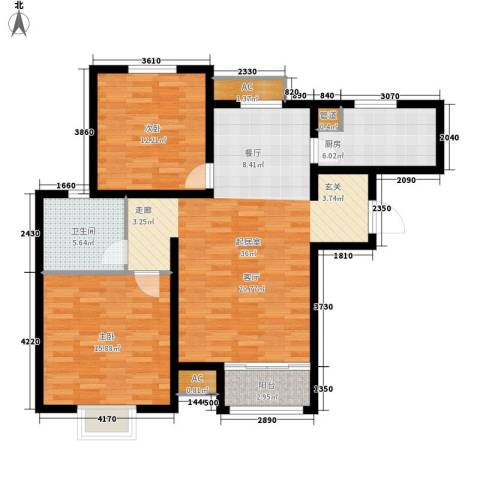 塞纳世家2室0厅1卫1厨93.00㎡户型图