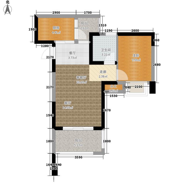 国光揽悦58.27㎡一期1号楼标准层A4户型